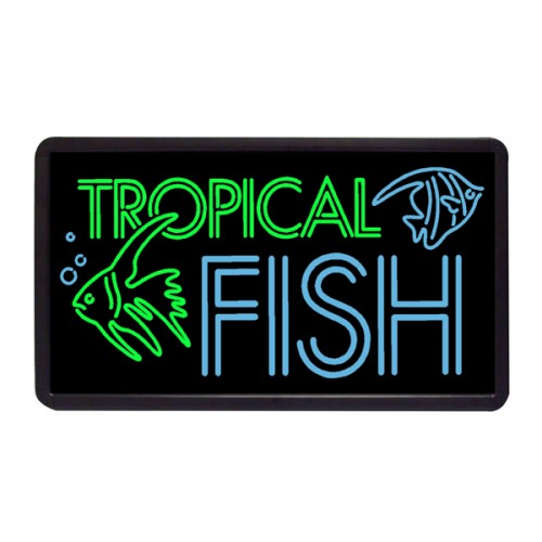 Tropical fish custom simulated neon sign 13 x 24 for Fish neon sign