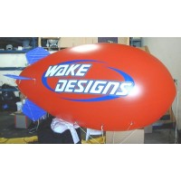 24 Ft Helium Nylon Blimps 2 Color with Your Logo