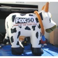 12 Ft Cow With Banner Area