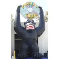 25 Ft Gorilla with DVD in Hands