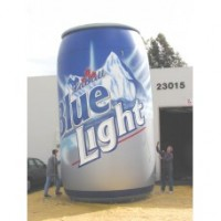 20 Ft Beer Can Hand Airbrushed Artwork