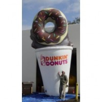 15 Ft Tall Donut With Cup With Logo