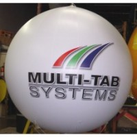 10 Ft Helium Ball Digital Logos with Your Logo