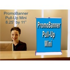PromoBanner Pull-Up  Mini 8.25 Inch by 11 Inch - Qty 1