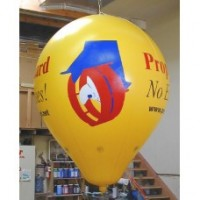 8 Ft Helium Hot Air Shapedl Digital Logos with Your Logo