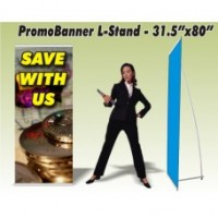 PromoBanner Aluminum L-Stand 31.5 Inch by 80 Inch - Qty 1