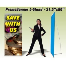 PromoBanner Aluminum L-Stand 31.5 Inch by 80 Inch - Qty 11