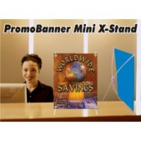 PromoBanner Mini X-Stand 11 Inch by 16.5 Inch - Qty 1