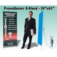 PromoBanner X-Stand Standard 24 Inch by 63 Inch - Qty 1