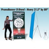 PromoBanner X-Stand Heavy 31.5 Inch by 80 Inch - Qty 1